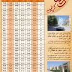 تقویم ماه مبارک رمضان ۱۳۹۴