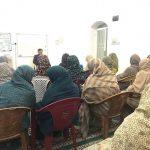 کلاس تعالیم اسلامی در روستای بهده