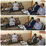 دیدار فرماندار پارسیان و شهردار دشتی با مدیر مجتمع